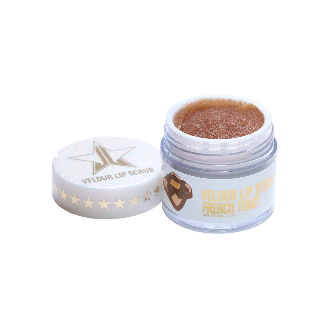 Jeffree Star Cosmetics Velour Lip Scrub, Limited Edition Holiday 2018, French Toast by Jeffree Star Cosmetics