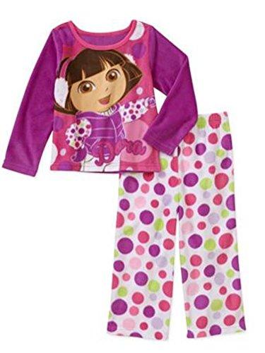 Nick Jr Infant & Toddler Girls Fleece Sleepwear Set Dora Pajamas Baby PJs 12m