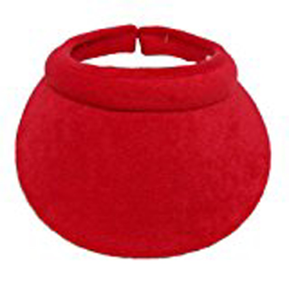 Cushees Terry Covered Clip Visor [215] (Red) cushees.com
