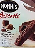Nonni's Triple Milk Chocolate without Nuts Biscotti, 8-Count (Pack of 6)