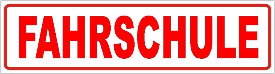 Fahrschule Magnetschild 30 x 8cm Magnetfolie 30x8cm f/ür KFZ und sonstige Metalloberfl/ächen