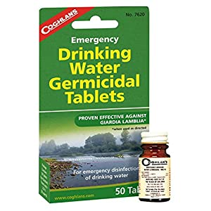 1 PACK OF WATER PURIFICATION TABLETS DRINKABLE WATER IN 30 MINUTES! 50 TABS