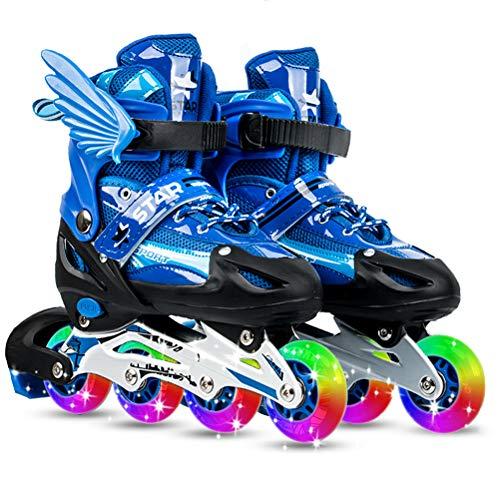 スライスシーボード自動的にインラインスケート ローラースケート 発光 メッシュ 通気性抜群 大人 キッズ 子供用 初心者向け ローラーシューズ