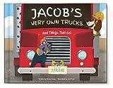 Personalized Custom Kids Keepsake Name Books for Boys Birthday Gift |Truck Tractors | Newborn New Baby Shower Gift