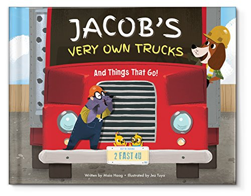 Personalized Custom Kids Keepsake Name Books for Boys Birthday Gift |Truck Tractors | Newborn New Baby Shower Gift -