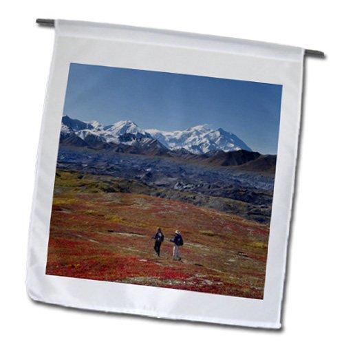 Danita Delimont - Hiking - Hiking, Muldrow Glacier, Mt McKinley, Alaska, USA - US02 HRO0432 - Hugh Rose - 18 x 27 inch Garden Flag (fl_141880_2)