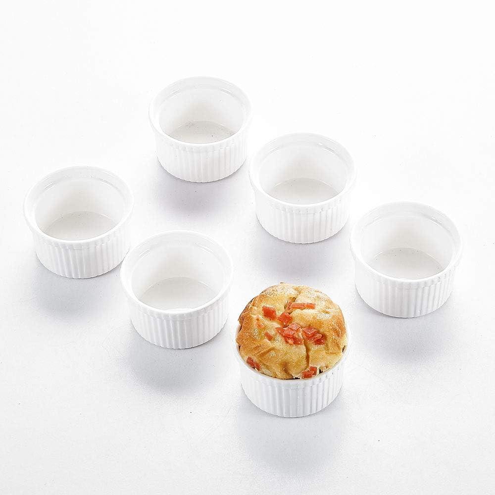 12 Piezas, Mini Moldes para Muffins - 7 cm Ø Magdalena de Porcelana