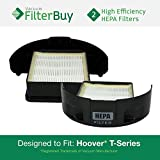 2 - Hoover WindTunnel T-Series Rewind HEPA Cartridge Filters, Part #s 303172001, 303172002. Designed by FilterBuy to fit ALL Hoover WindTunnel T-Series Upright Vacuum Cleaners