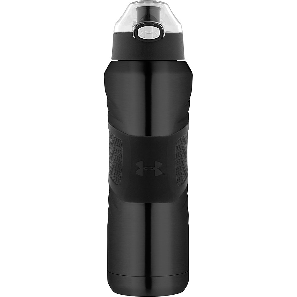 61141bd062 Amazon.com: Under Armour Dominate 24 Ounce Stainless Steel Water Bottle,  Gloss Black: Kitchen & Dining