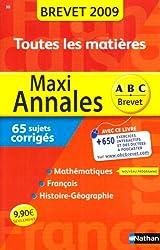 MAXI ANNALES BREVET 2009