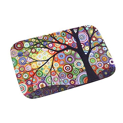 Iuhan Fashion Colorful Tree Door Kitchen Carpets Memory Foam Bathroom Absorbent Non-slip - Cutter Mat Intermediate