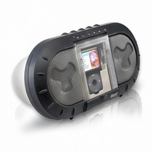 Hercules i-XPS 120 Outdoor Speakers for iPod (Black/Silver)