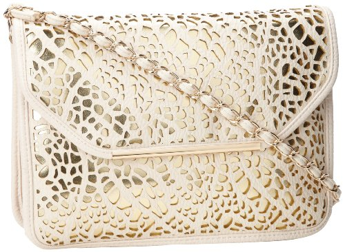 Ivanka Trump Crystal ITR151 Shoulder Bag,Ivory,One Size, Bags Central