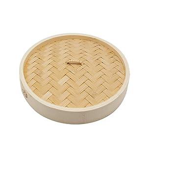 Küchenhandwerk, orientalischer zweischichtiger Bambusdampfer und Deckel aus der Welt,A,25.4cm/10.03inch