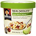 Quaker Real Medleys Oatmeal+, Apple Walnut, Instant Oatmeal+ Breakfast Cereal, 2.64oz Cup
