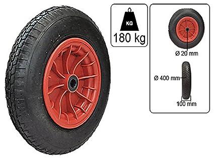 Rueda de aire para carretilla 400mm x 100mm 4.00-8: Amazon.es: Industria, empresas y ciencia