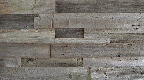 East Coast Rustic DIY Grey Mixed Sizes Unsealed Reclaimed Wood Wall Accent 24 Square Feet - Do It Yourself Genuine Barn Wood Grey Color (Barn Wood Headboard compare prices)