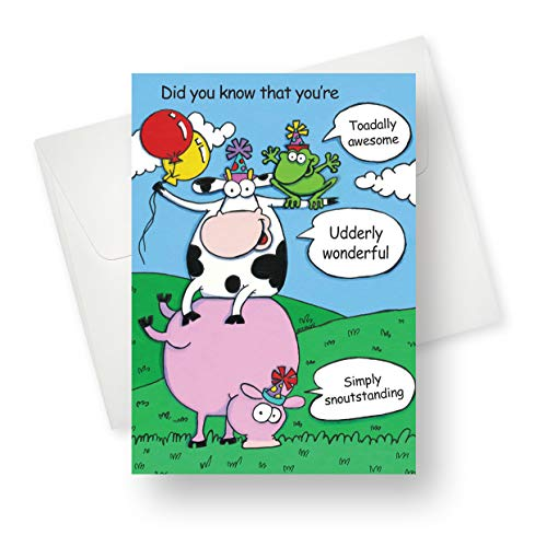 Northern Cards - Stacks (Birthday) Premium Quality Greeting Card with Unique Animal Design - for Adults, Boys and Girls - 5.5