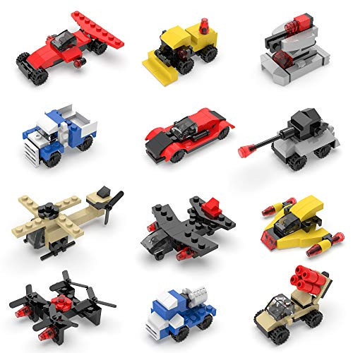 FUN LITTLE TOYS Mini Building Blocks Sets for Party Favors, Kids Prizes, Goodie Bags, 12 Boxes ()