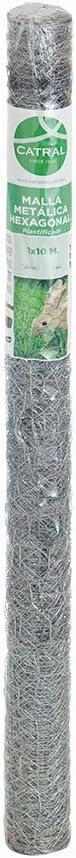 Catral 55020014/ Silver /Mesh Hexagonal Galvanised 100/x 1000/x 4/cm