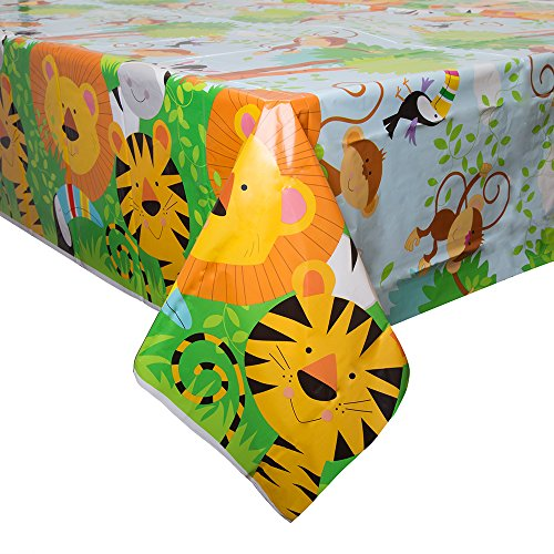 Animal Safari Plastic Tablecloth, 84