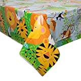 "Animal Safari Plastic Tablecloth, 84"" x 54"""