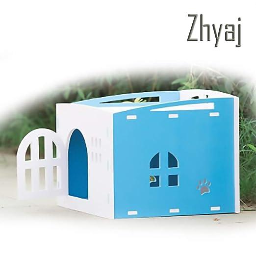 Zhyaj Caseta Perros Exterior con Vallas para Perros Estable Nido ...