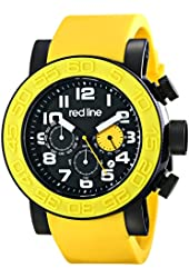 red line Men's RL-50052-BB-01-YAS Xlerator Stainless Steel Watch with Yellow Band