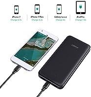 AUKEY Bateria Externa 20000mAh, Cargador Portatil con 2 Puertos USB para Google Pixel Nexus, iPhone X/ 8/ 7/ 7 Plus/ 6s, Samsung S8/ S8+ y más