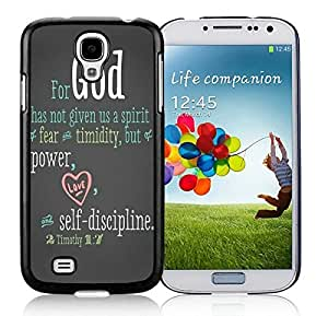 Bible Quote Samsung Galaxy S4 i9500 Case Black Cover
