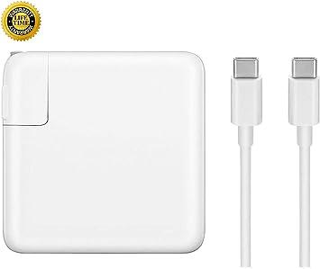 Amazon.com: Cargador adaptador de alimentación USB-C de 61 W ...