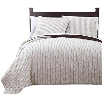 Amazon.com: Wholesalebeddings Coverlet Queen Size Ivory