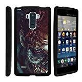 MINITURTLE Case Compatible w/ LG G Stylo Phone Case, Perfect Slim Fit Snap on Hard Cell Phone Cover Haunted Design for G4 Stylus LS770 ? Close up Zombie