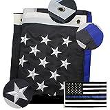 American Blue Flag 3x5 ft, Thin Blue Line USA Police Flags, Oxford Nylon ...