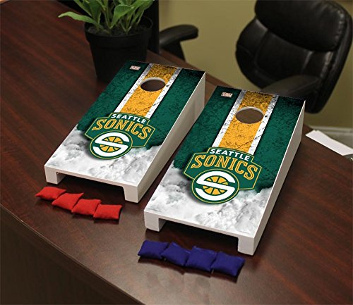 Victory Tailgate Hardwood Classics (Basketball) Seattle Sonics Hardwood Classic '07-'08 Seattle Super Sonics NBA Hardwood Classic Mini Cornhole Game Set by Victory Tailgate