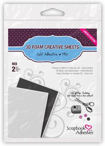 3L Corporation Self-Adhesive Scrabbook Foam Embellishment Sheets, Blank Sheets ()