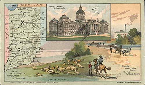 - State Capitol Indianapolis, Indiana Original Vintage Postcard