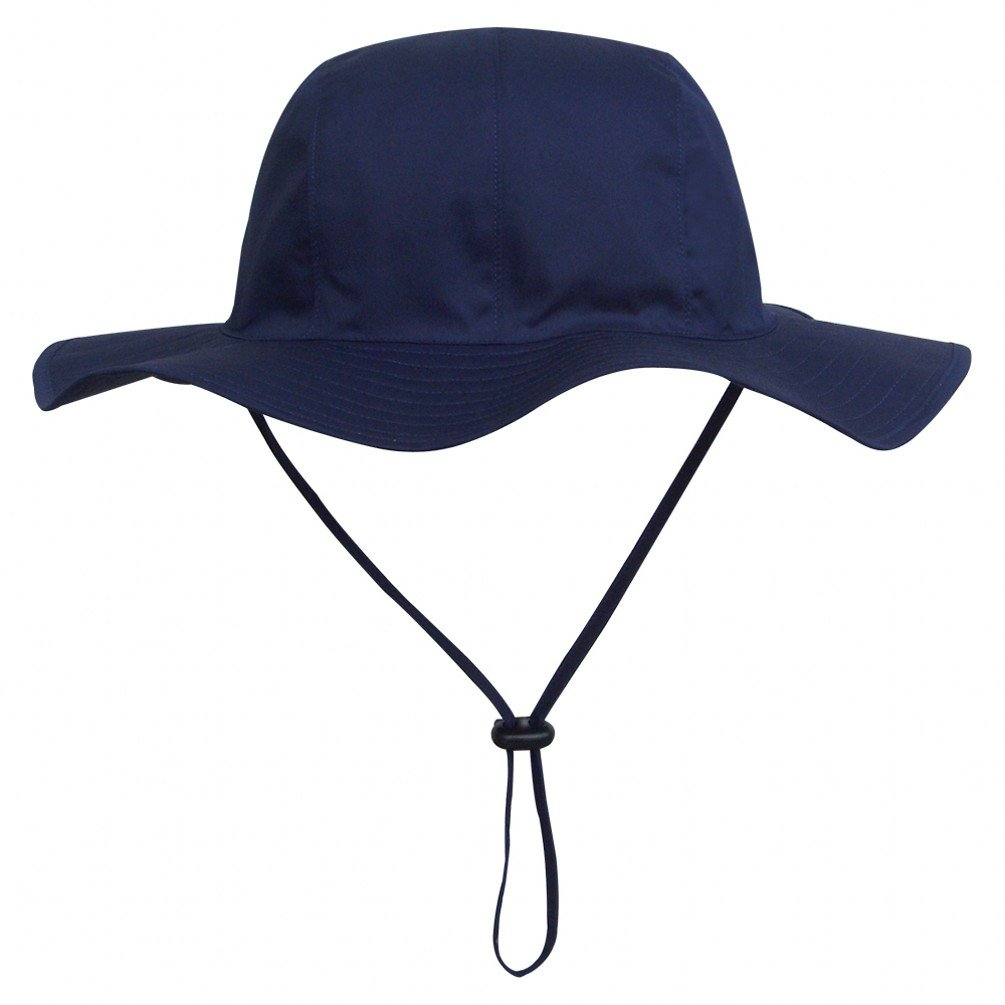 Ubbetter Unisex Child Wide Brim Sun Protection Hat Adjustable Head Size,50+ UPF Cotton (Size XL/5Years - 7Years, Navy Blue)