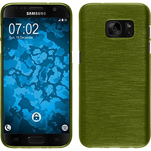 Silicone Case for Samsung Galaxy S7 - brushed pastel green - Cover PhoneNatic + protective foils Sales