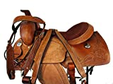 Orlov Hill Leather Co 15 16 17 Floral Tooled Snake BRODER Trail Pleasure Western Ranch Roping Saddle