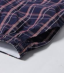 Latuza Men\'s Cotton Plaid Lounge Sleep Shorts, 01, Large