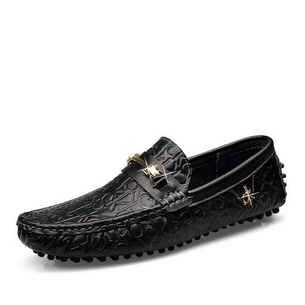Hy Herrenschuhe, leichte Loafers & Slip-Ons, Spring Fall New Soft Sole Slip-Ons Driving schuhe,schwarz,44