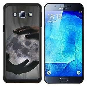 Significado Profundo Dios Creador Noche- Metal de aluminio y de plástico duro Caja del teléfono - Negro - Samsung Galaxy A8 / SM-A800