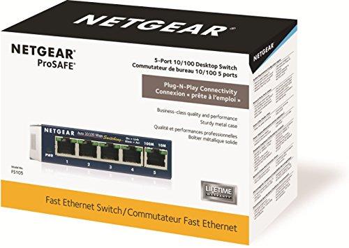 NETGEAR ProSAFE FS105NA 5-Port Fast Ethernet Switch