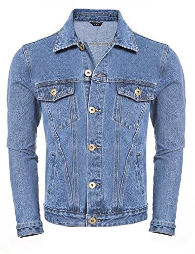 Unlined Jean Jacket - JINIDU Men's Rugged Wear Unlined Jean Denim Jacket Casual Trucker Coat