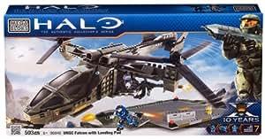 Mega Bloks 96940 Halo UNSC - Helicóptero de combate con pista de aterrizaje (503 piezas)