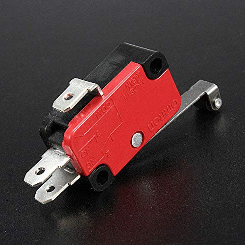 5Pcs AC 250V 15A V-156-1C25 SPDT Roller Lever Micro Switch by Anddoa (Image #2)