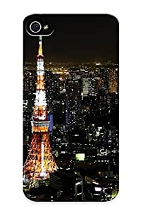 For Iphone 4/4s Protective Case, High Quality For Iphone 4/4s Full Moon Over Tokyo Skin Case Cover wangjiang maoyi