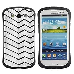 Suave TPU GEL Carcasa Funda Silicona Blando Estuche Caso de protección (para) Samsung Galaxy S3 I9300 / CECELL Phone case / / Architecture Lines Stripes Wall Black White /