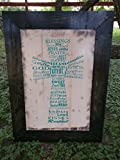 Family Blessings Cross Framed Wall Hanging (White/Turquoise/Ebony)
